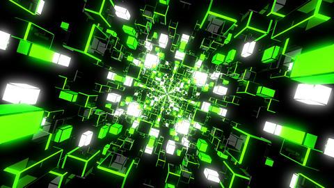 Green Rotating Tunnel Animation