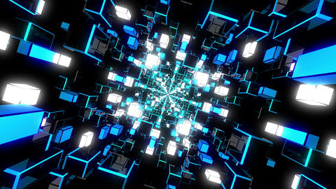 Blue Rotating Tunnel Animation