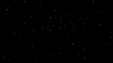 Realistic Stars Twinkle - 4K stock footage
