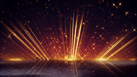 orange light beams and shimmering particles loopable background Animation