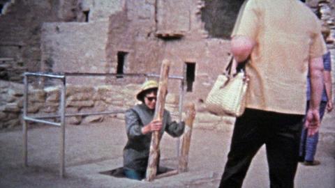 1972: Mesa Verde National Park native tribal cliff dwelling settlement Footage