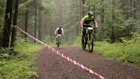 Cross Country 1 stock footage