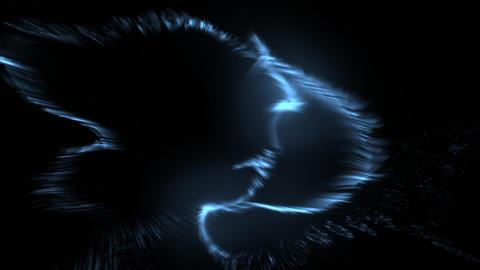 Blue emissions Animation