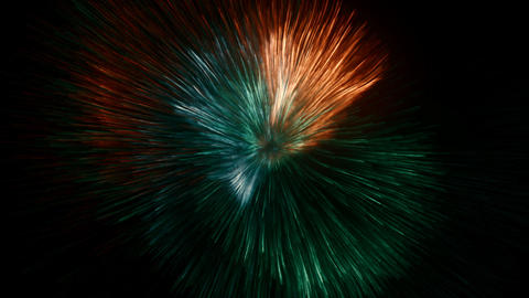 Bright fireworks Animation