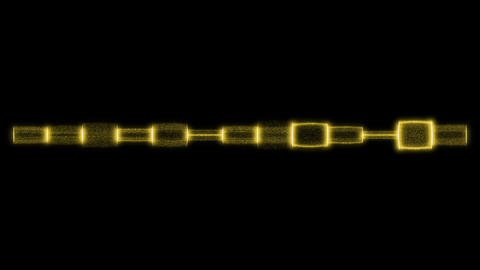 Yellow equalizer effect Animation