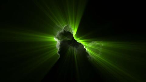 Green volume lights Animation