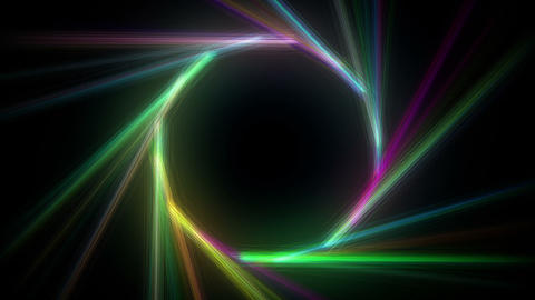 Colorful circular light effects Animation