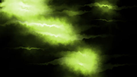 Green and bright lights Animation