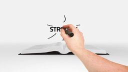 Book opening to show business brainstorm Animation