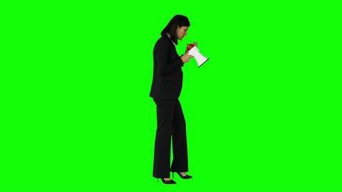 Businesswoman shouting through a megaphone Footage