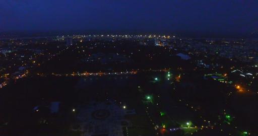 night 4k aerial - Yangon pan shwedagon pagoda Footage