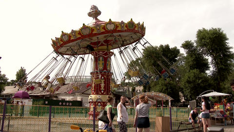 Carousel At The Playground stock footage