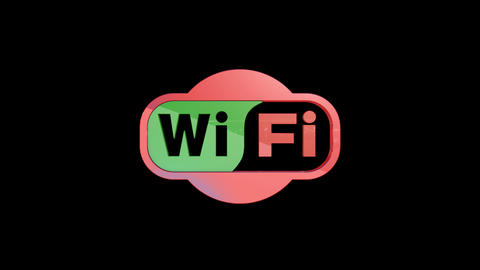 Wi Fi logo assembled from several parts Animation