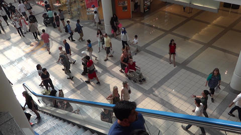 Shopping Mall People - 03 - Escalator and Passage Footage