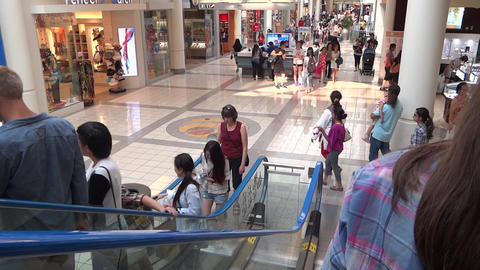 Shopping Mall People - 14 - Escalator and Passage Footage