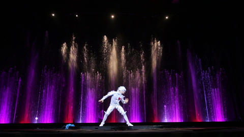 Dancing solo during theatrical performance Footage