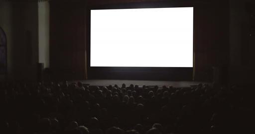 People enjoying the film in cinema Footage