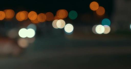 Timelapse of defocused night city traffic Footage