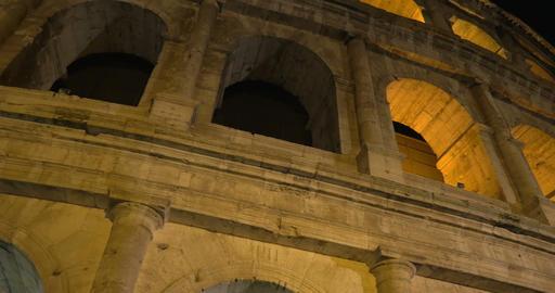 Famous Roman sight Coliseum at night Footage