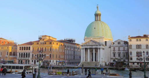 The Grand Canal and old architecture in Venice, Italy