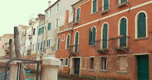 Old architecture and canals of Venice, Italy GIF