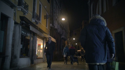 People Walking Along the Street in Venice, Italy Footage