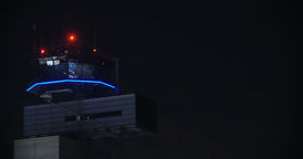 Airport control tower at night Footage