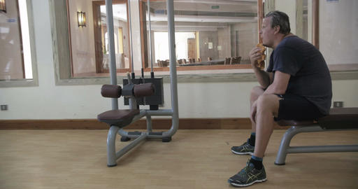 Man having a rest after training Footage