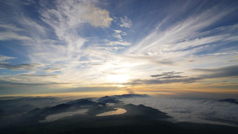 Sunrise From Mt. Fuji stock footage