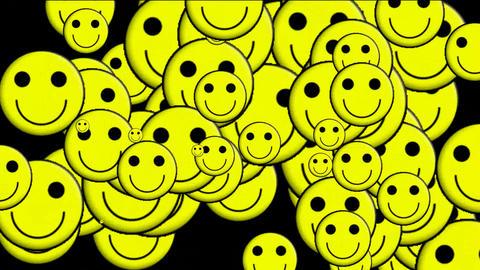 Emoticon Animation:yellow smile... Stock Video Footage
