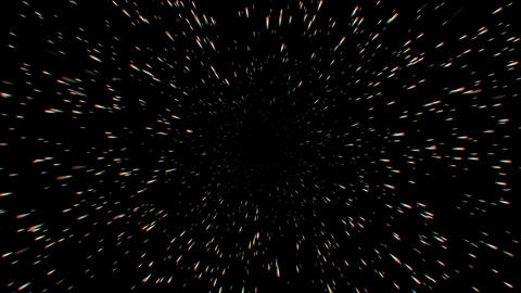 Universe burst particle motion in space,bullet flying Stock Video Footage
