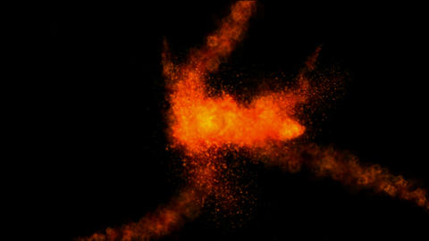 Red Magnetic field,red splash particle and smoke in the space Animation