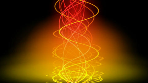yellow spiral line in color... Stock Video Footage