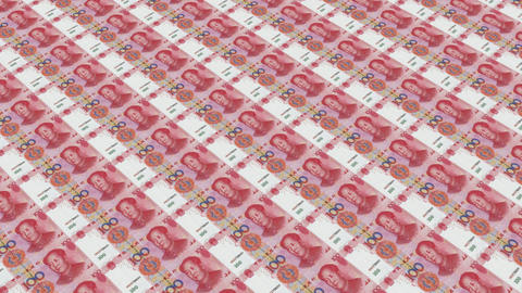 100 RMB bills,Printing Money Animation Animation