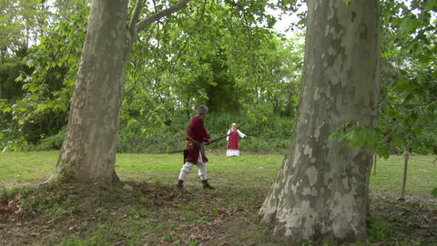 medieval archer 01 Stock Video Footage