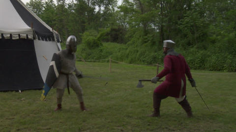 medieval fighting 02 Stock Video Footage