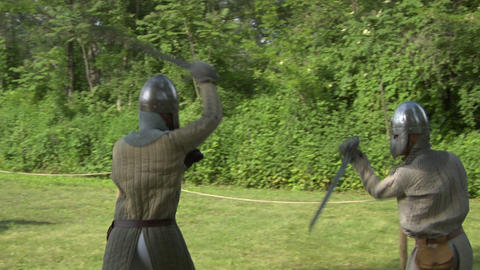 medieval fighting 04 Stock Video Footage