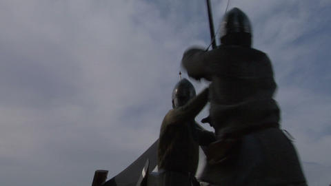 medieval fighting 06 Stock Video Footage