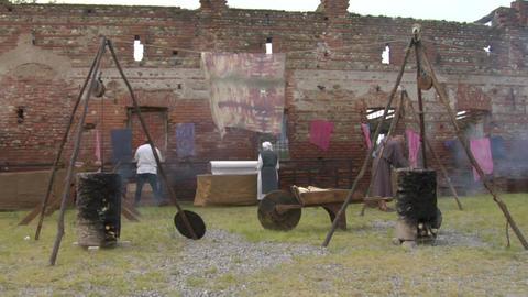 medieval village 04 Stock Video Footage