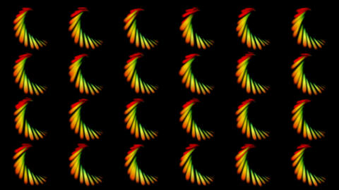 color spiral pattern,like as feather... Stock Video Footage
