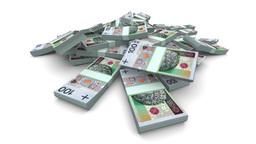 Falling PLN Packs - Realistic Stock Video Footage
