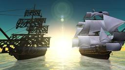 海賊船 Stock Video Footage