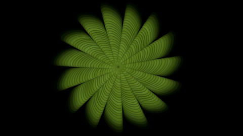 green swirl floral pattern,seamless loop.Led,modern,stylish,dizziness,Flower,petal,pistil,windmills Animation