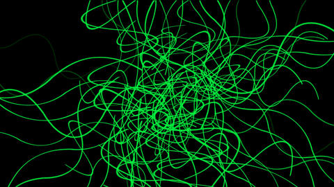 green intensive lines wave,fiber,confusion... Stock Video Footage