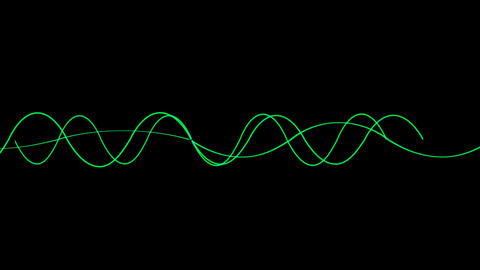 Animation of green lines wave,seamless loop.vj,beautiful,art,decorative,mind,glow,graph,illuminated Animation