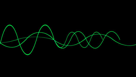 Animation of green lines wave,seamless... Stock Video Footage