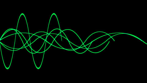 Animation of green lines wave.signals,rope,vision,idea,creativity,disorder,medical,frequency,vibrati Animation