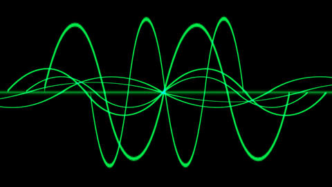 green lines wave.symbol,dream,vision,idea,creativity,beautiful,disorder,ECG,EEG,frequency,vibration Animation
