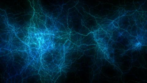 blue lightning,magnetic field.Negative oxygen... Stock Video Footage
