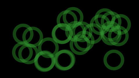 abstract green round pattern slowly... Stock Video Footage